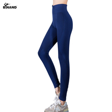 BINAND New Women Sexy High Waist Stretchy Training Sports Pants Dry Quick Ankle Length Slim Body Professional Women Yoga pants