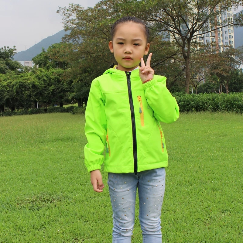 Child Softshell Jacket Coat Clothes Kids Outerwear Coat Thick Clothes Hooded Spring outdoor Jacket Children WJT010<br>