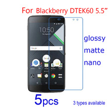 5pcs Mobile Screen Protector Guard Glossy HD Clear/matte/Nano Anti Explosion Protective Films for BlackBerry DTEK60 Smartphone(China)