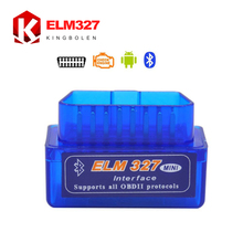 Super Mini ELM 327 Bluetooth OBD2 OBD II Works On Android Torque 2017 High Quality 3 Years Warranty ELM327 Free Shipping