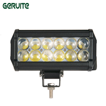 New Car Styling 10pcs 4D LED 7Inch 36W Off-road Driving Lamp car Led Light Bar 4D 12 LED for Car Truck SUV spotlight /Floodlight(China)