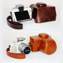 PU leather case cover camera bag For Olympus PEN E-PL3 EPL3 EPM1 E-PM1 with Strap(China)