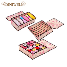 DINIWELL Storage Underwear Organizer Closet Drawer Divider Storage Box For Socks Ties Bra Organizador De Ropa Interior Container