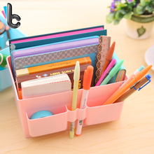 Large Capacity Portable Plastic Organizer Storage Box Desktop Cosmetic Stationery Remote Control Storage Box