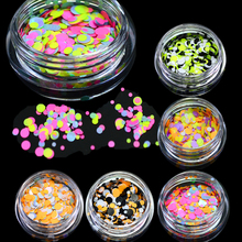 STZ 1g New Mini Round Thin Paillette Colorful Design Nail Art Decorations Fashion DIY Sticker for Gel Polish Nail Glitter P29-35