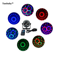 Tanbaby 3W Mini LED Disco Ball with Remote Control LED RGB Stage Light for DJ Bar Karaoke Party Light Pub Crystal Ball Magic DMX