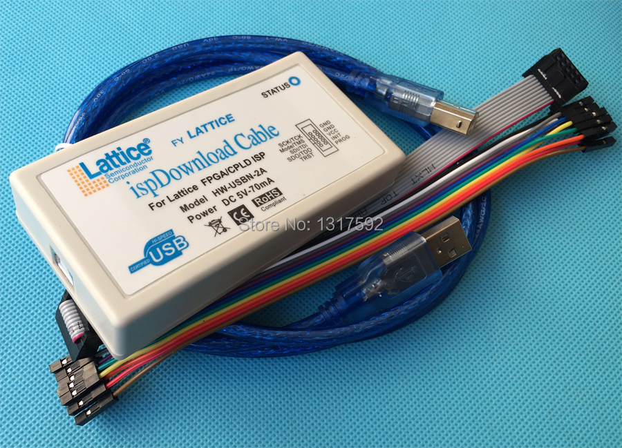 free shipping USB Download Cable Jtag SPI Programmer for LATTICE FPGA CPLD(China (Mainland))
