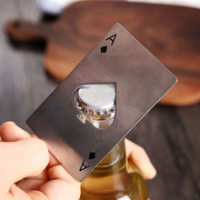Portable Stainless Steel Poker Shaped Beer Bottle Opener Credit Cards Size For Wallet Bar Tools Kitchen Gadgets