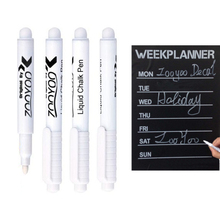 New 3pcs white liquid chalk pen without blackboard room decorative removable vinyl wall decal good quality