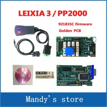 2017 Newest Lexia3 with 921815C Firmware Golden PCB lexia PP2000 V48/V25 Lexia 3 Diagbox Lexia-3 diagnostic tool(China)