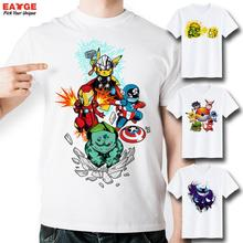 2016 Brand Fashion New Design T Shirt Pokemon Pikachu In Thor Armor Funny Cool Hip Hop 3D T-shirt  Comics Printed Tshirt
