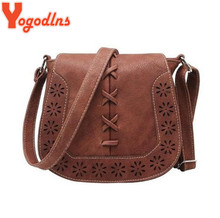 Yogodlns High Quality Women 's Handbag Spanish Brand 2017 hollow out Crossbody Bags Women Leather Handbags Shoulder Small bag(China)