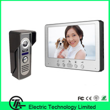 "7"" TFT LCD video doorphone one to one intercom system video door bell night vision IR camera 815M11 for access control system"