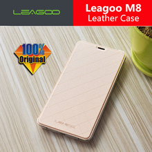 Leagoo M8 Case with battery cover 100% Original Official Luxury Leather Flip Back Cover Case For Leagoo M8 Pro Mobile Phone(China)