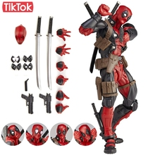 Revoltech Deadpool Series No.001 Toy Action Figure Model Gift