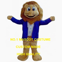 blue coat lion king mascot costume adult size young lion cat theme anime cosplay costumes carnival fancy dress 2533