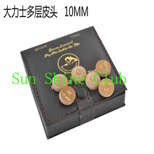 Freeshipping 50pcs/lot Original Taiwan 10mm First Class Snooker cue tips M/H High quality leather tips Billiards supplies