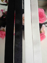 5Yards 0.6cm-1.5cm Spandex White Underwear Shoulder Strap Elastic Black Shoulder Elastic Bra Strap(China)