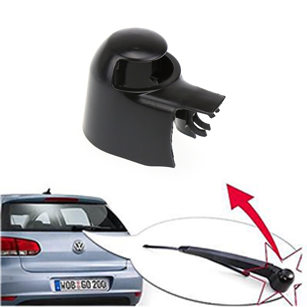 2018 Black Rear Wiper Washer Arm Blade Cover Cap For VW/ MK5/ Golf/  Polo/ Passat/ Caddy/ Touran K7TO(China)