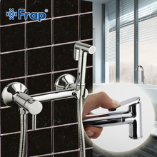 2017 NEW Frap 1 Set Solid Brass Tube Cold and Hot Water Shower Mixer with Bidet Shower Head Single Handle Tap Crane F7503(China)