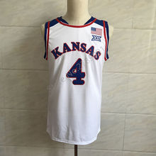 #4 Devonte Graham Kansas Jayhawks KU Throwback College Basketball Jersey white Embroidery Stitched(China)