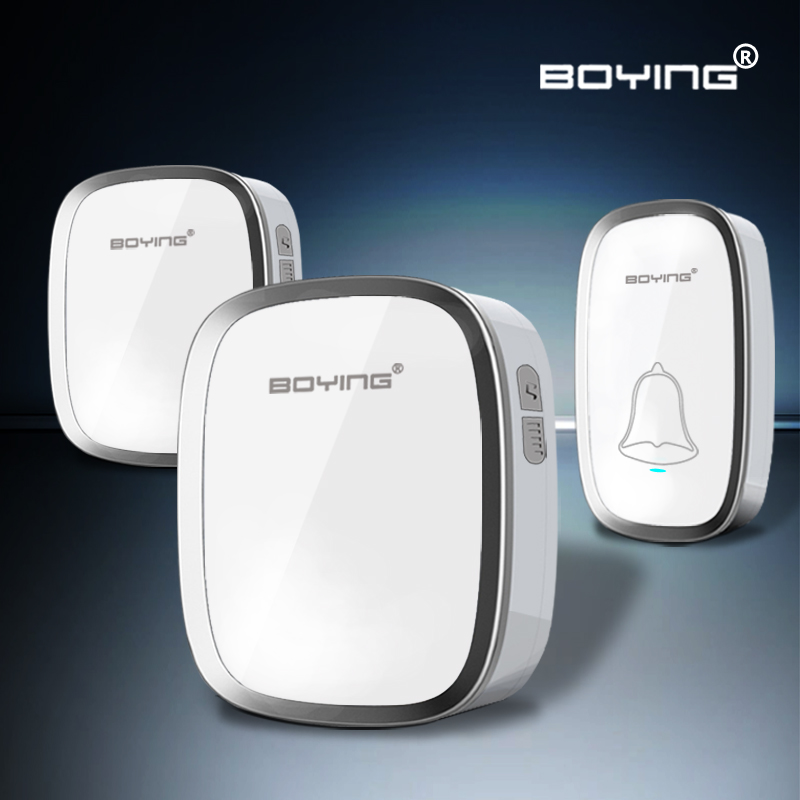 White Waterproof Wireless Doorbell 36 Melody Home Smart Alarm door ring remote control digital door bell<br><br>Aliexpress