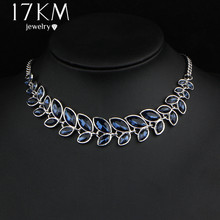 Buy 17KM 3 Color Leaves Crystal Choker Statement Necklace Women Bohemian Rhinestone Collar Bijoux Maxi Necklaces Wedding Jewelry for $2.67 in AliExpress store