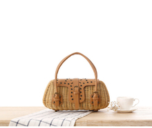 new women rattan plastic tube handbag lady beach bag female clutch tote messenger bag