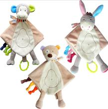 Buy JJOVCE Baby Infant cartoon animal bear /donkey /monkey Appease Towel Soft Toys Comfort Plush Hand Towel Comfort Doll 50% for $5.09 in AliExpress store