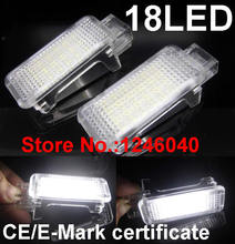 2PCS Canbus LED Car Interior lamp Seat light footwell light lamp for Skoda Roomster 06-09,Fabia 07-09,Octavia 04-08,Superb 06-09(China)