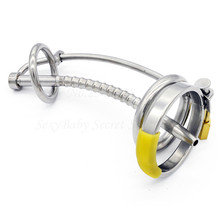 Buy 3 Ring 304 Stainless Steel Male Chastity Device Catheter Cock Cage,Penis Ring,Penis Lock,Chastity Belt Sex Toys Men