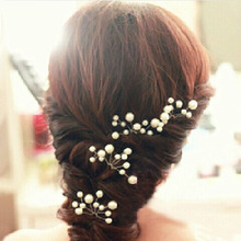 fashion Hair Clips For Women Wedding Accessories Bridal Crystal Pearl Lace Flower Barrettes Bridesmaid Hair Pin Wedding