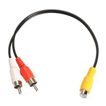 Colorful RCA Jack Femaleto 2 RCA Male Plug Y Splitter Audio Video AV Adapter Cable