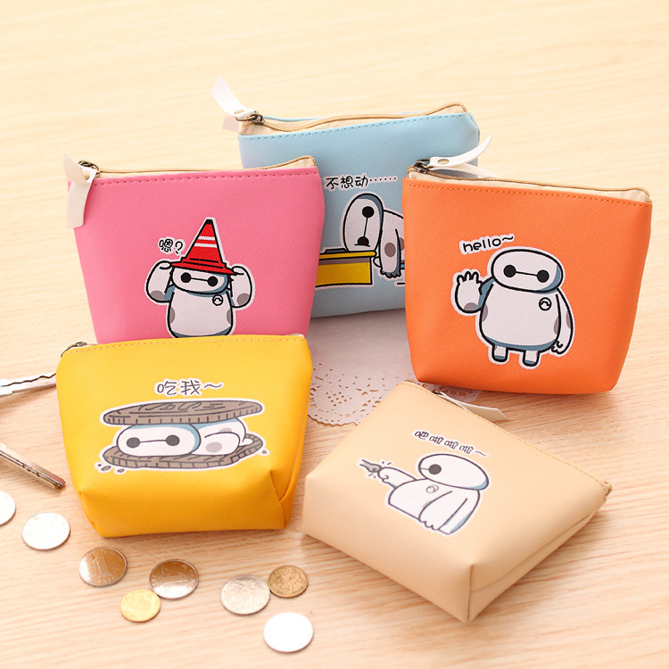 Cute Coin Purse Change Purse Makeup Bags Leather Lady Pouch Pockets  MIni Cute Baymax Coin Purse Women Bag Wallet Children Gift<br><br>Aliexpress