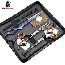 "Japanese Black Steel Professional 6"" inch Hair Dressing Salons scissors HT9126 haircut scissor thinner Shears kit Barber Scissor"