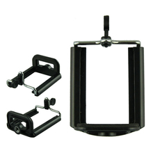 Delicate Aluminum Cell Phone Holder mount bracket Adapter Clip For Camera Tripod for iPhone For Samsung for HTC Mar24