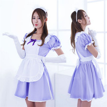 E72 Japanese Anime Cosplay Dress Game Uniform Maid Bar Suits Cosplay Costumes With Gloves Lolita Dress