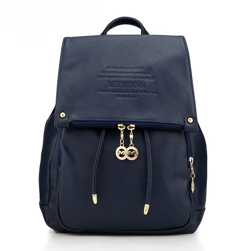 Womens Backpack Genuine Leather College Wind Student Backpack School Bag For Teenagers Girls Ladies Travel Bag Mochila Feminina<br>