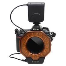 SHOOT Led Macro Ring Flash Light for Canon 60D 7D 6D 5D2 5D3 700D 650D 550D Nikon D800 D7100 D5100 Olympus Pentax DSLR Cameras(China)