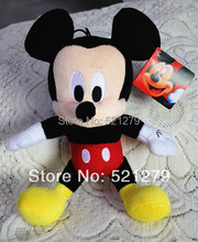 Free shipping 6pcs/lot 28cm=11inch mickey mouse plush soft toys,mickey mouse toys wholesale for party gift