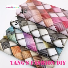4PCS--High Quality DIY colorful checks leathers/Synthetic leather/DIY fabric 20x22cm per pcs CAN CHOOSE COLOR