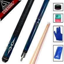 CUESOUL High Quality Maple Billiard Cues Shaft 11.5mm/12.75mm Tips 1/2 Split Pool Billiards Cue Stick 58 Inch(China)