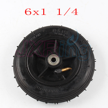 Motorcycle 6x1 1/4 tyre 150MM Scooter Inflation Wheel With Aluminium Hub With Inner Tube Electric Scooter 6 Inch Pneumatic Tire(China)