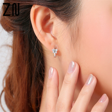 A Pair Stud Earrings Fashion Women's Cute Butterfly Ear Clip Cuff Ear Stud Earrings Hypoallergenic Jewelry