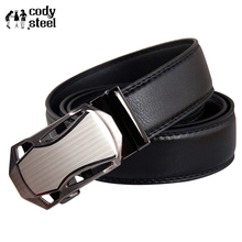 Cody Steel Belts Fashion Mans Casual Automatic Buckle Men Designer Belts Business Split Leather Male Belts Luxury