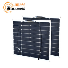2017 New ultra-efficient flexible 2 PCS 50w 12v solar panels for generation solar panel panneau solaire energia solar camping(China)