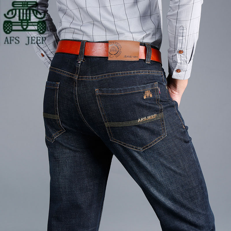 AFS JEEP Autumn Thickness Cotton Denim trousers,Classical Designer New Style Hot sale Brand Mans Jeans, Dark Blue Male JeansОдежда и ак�е��уары<br><br><br>Aliexpress