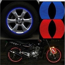 Car Styling 16 Strips Vinyl Film 3M High Quality Reflective Car Sticker for Motorcycle Bike Rim Wheel Auto Decal Tape Stickers