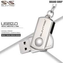 Suntrsi USB Flash Drive 64GB Key Chain Pendrive Metal Mini Pen Drive Customized USB Stick High Speed USB Flash Real Capacity