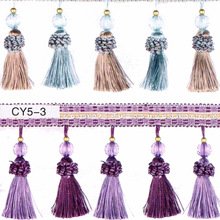 elegent fashion small Bead Rim for patchwork Drapes Fringe Tassels For Sew Lace Material for Beads Frame Bed Cover edge Flowers(China)